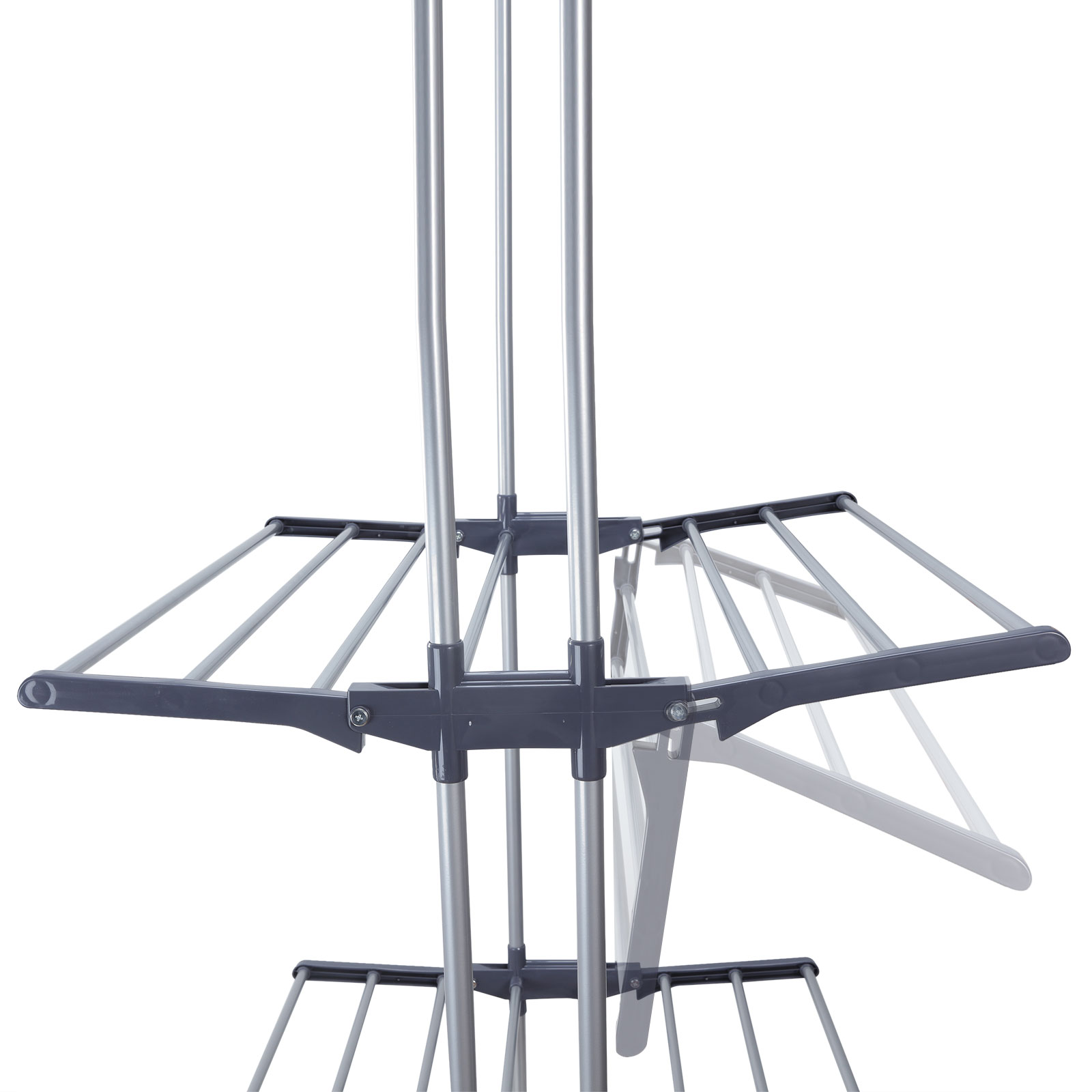 foldable 6 tiers clothes airer indoor laundry drying rack horse garment hanger ebay. Black Bedroom Furniture Sets. Home Design Ideas