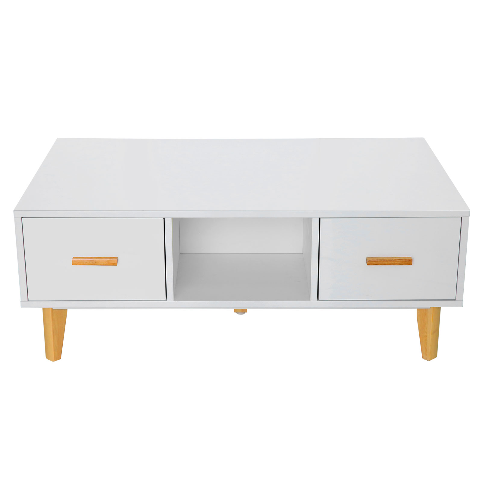 High Gloss Coffee Table Storage Drawer Rectangle Living Room Furniture Mdf Wood Ebay