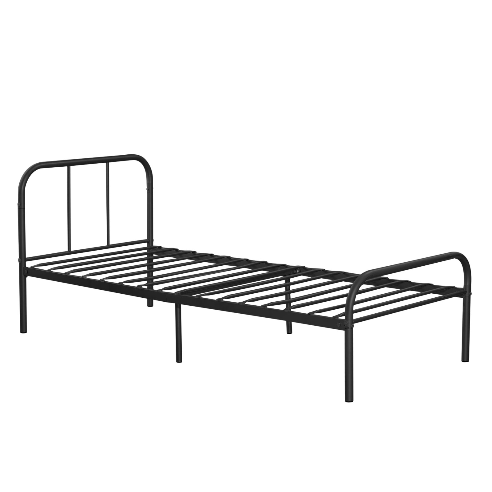 metal platform bed frame twin size bedroom heavy duty mattress foundation black ebay. Black Bedroom Furniture Sets. Home Design Ideas