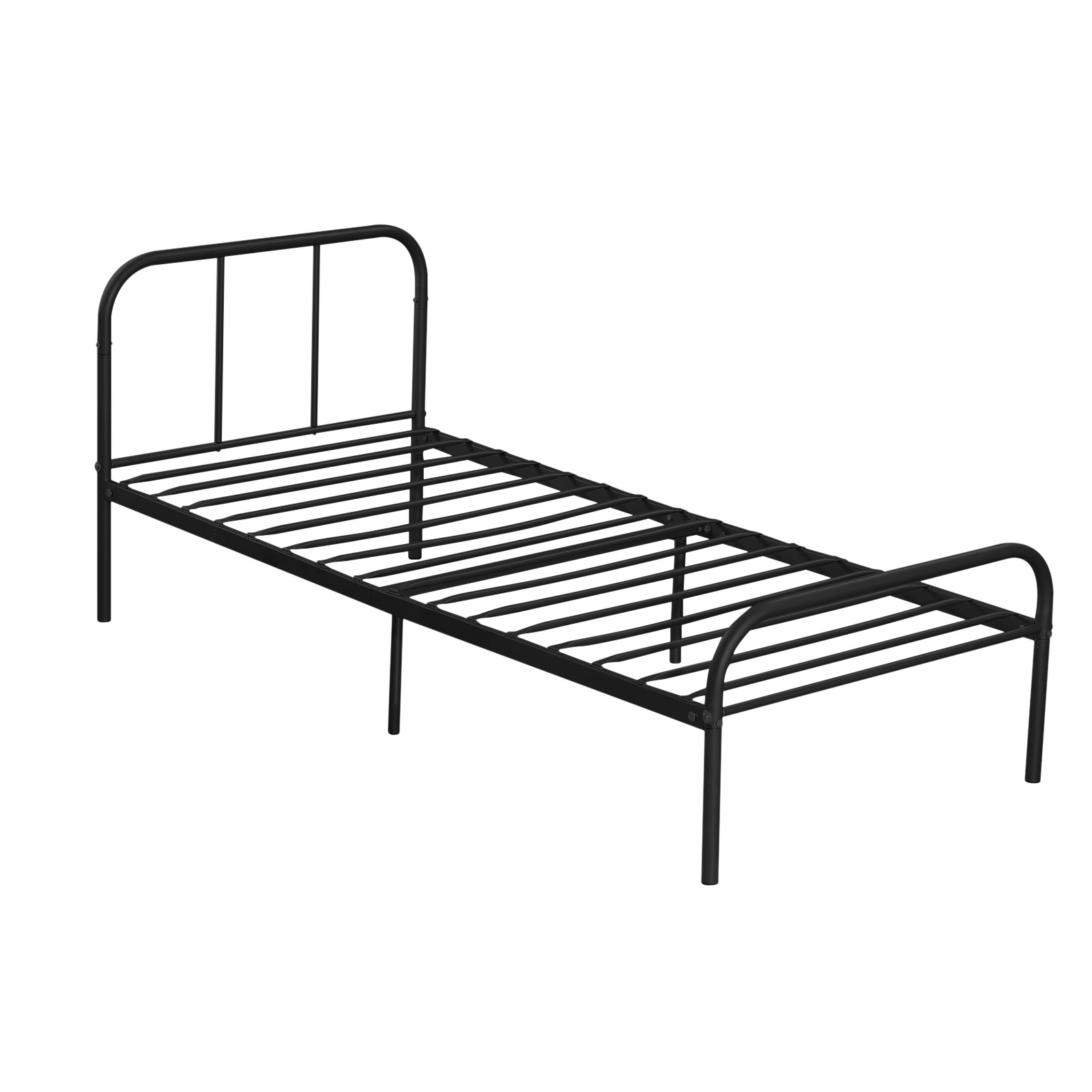 Metal platform bed frame twin size bedroom heavy duty Metal twin bed frame