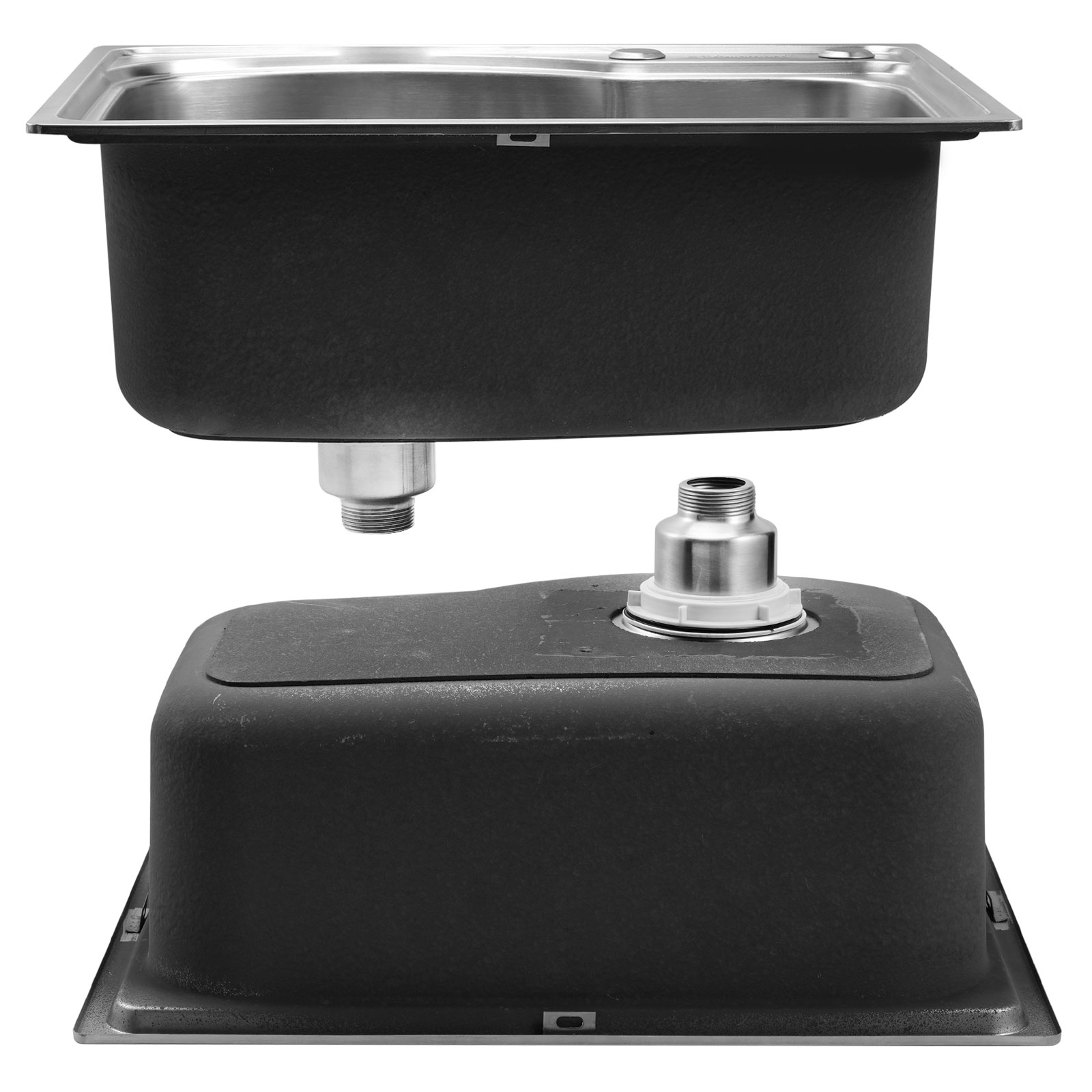 Stainless steel kitchen sink laundry catering topmount - Square stainless steel bathroom sink ...