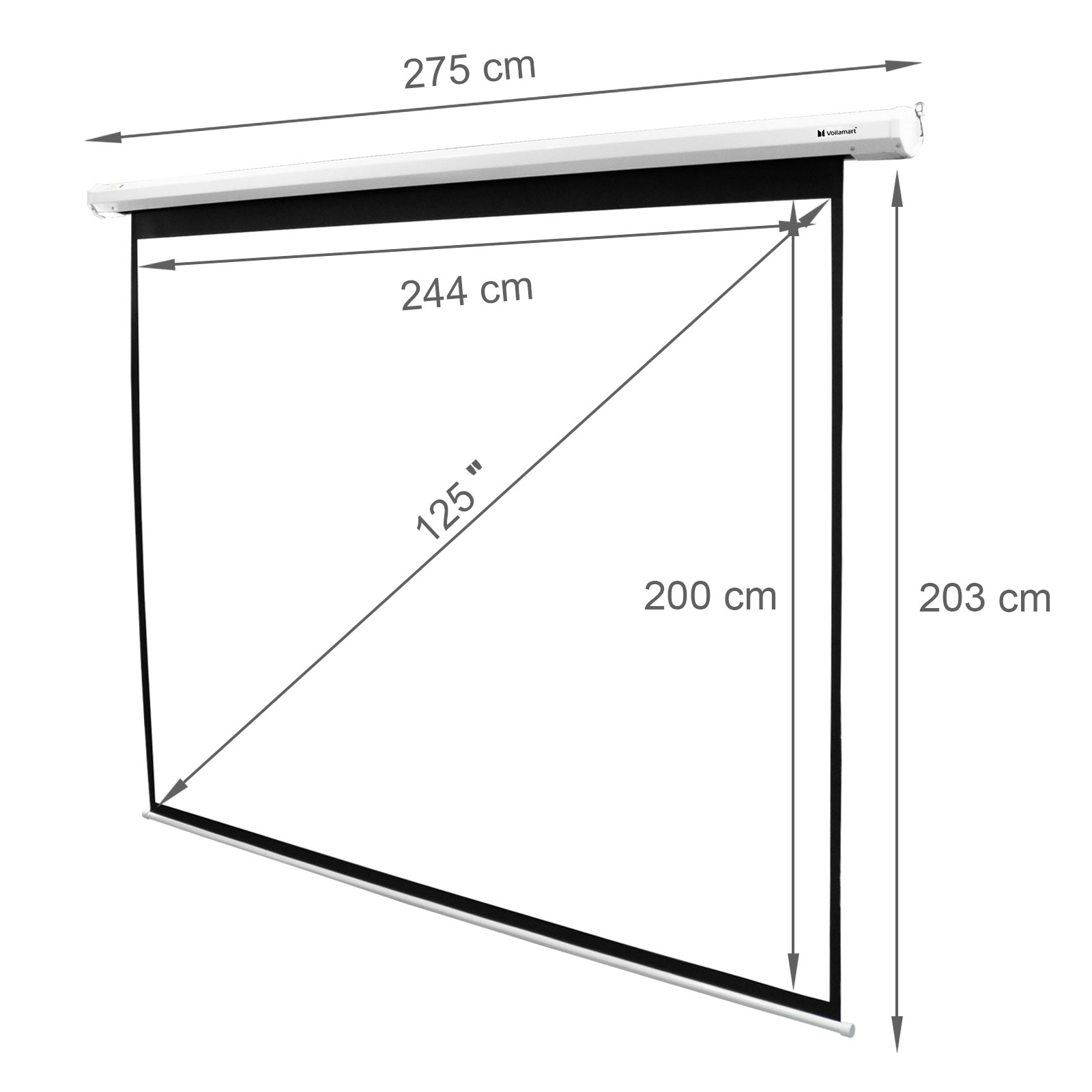 125 inch projector screen home theatre hd tv electric for 130 inch motorized projector screen