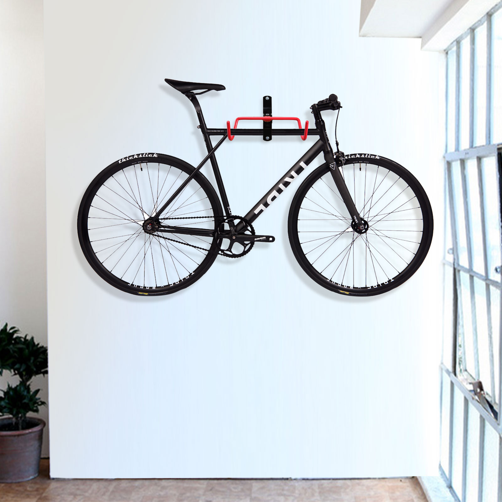 2pcs bike wall mount hanger garage storage hook holder rack cycling bicycle ebay. Black Bedroom Furniture Sets. Home Design Ideas