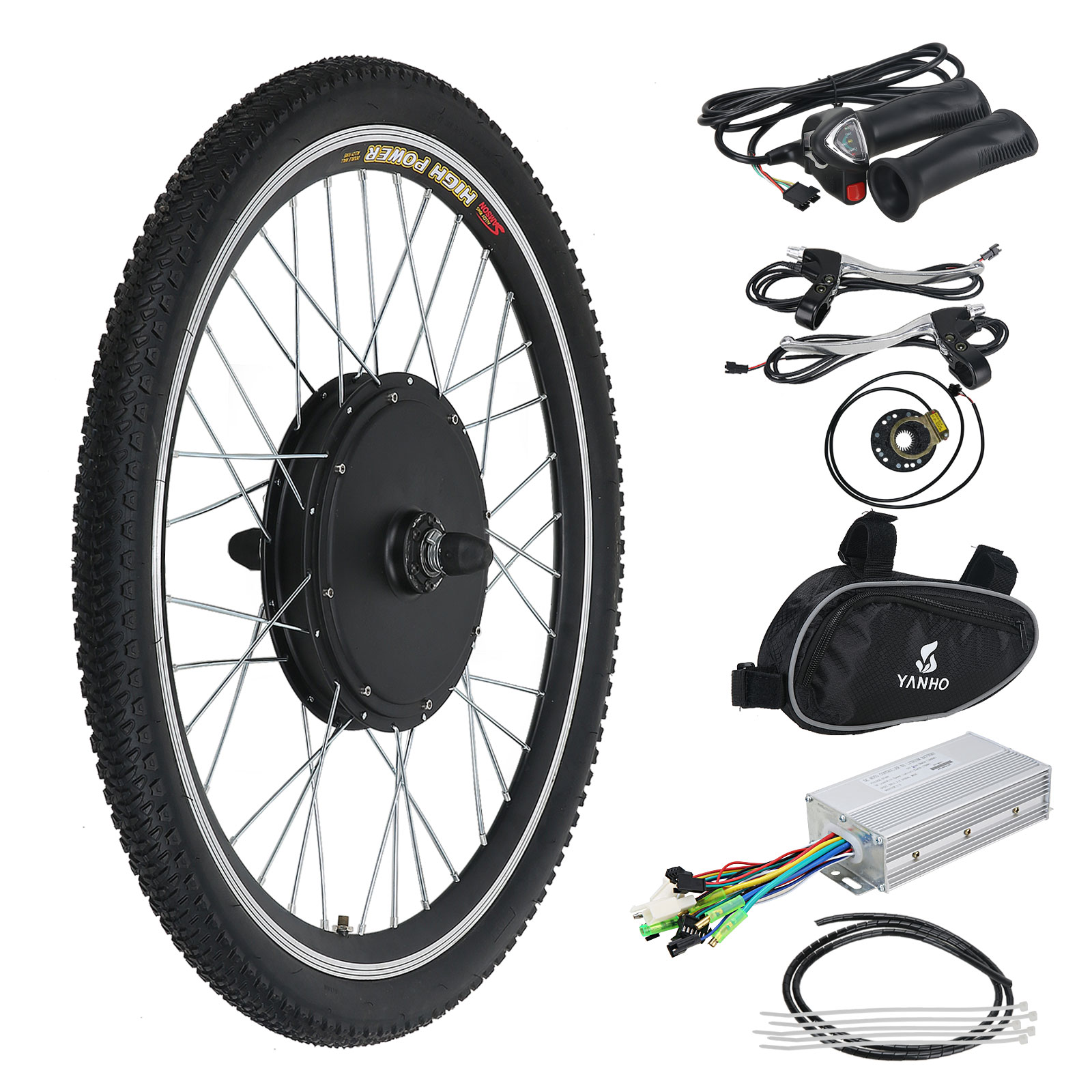 26 48v 1000w electric e bike kit conversion bicycle motor for Fastest electric bike hub motor