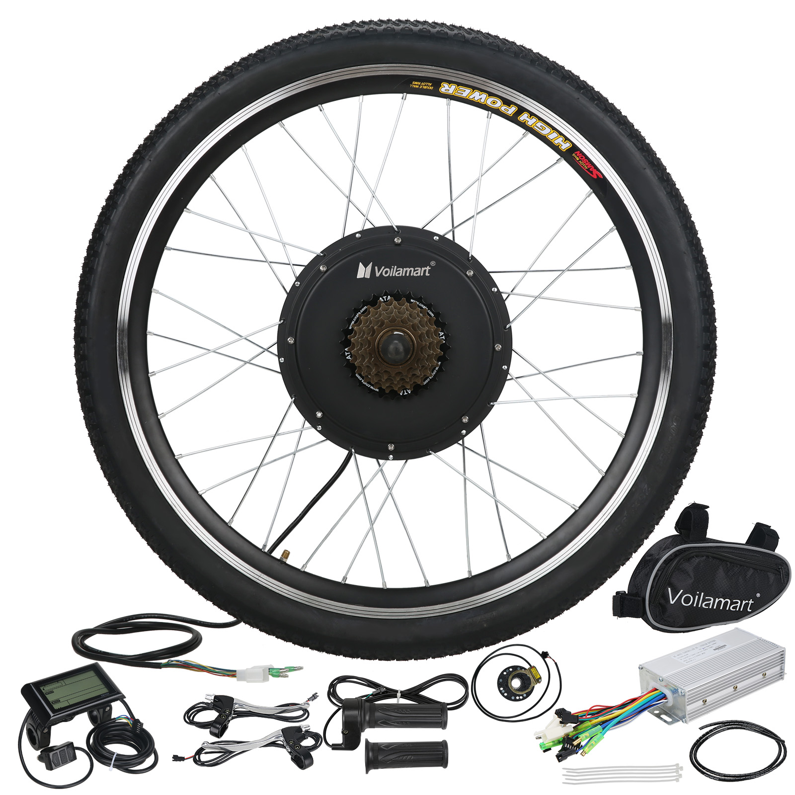 Details About Electric Bicycle Kit 48v 1000w Rear Wheel E Bike Motor Conversion Hub Lcd Meter