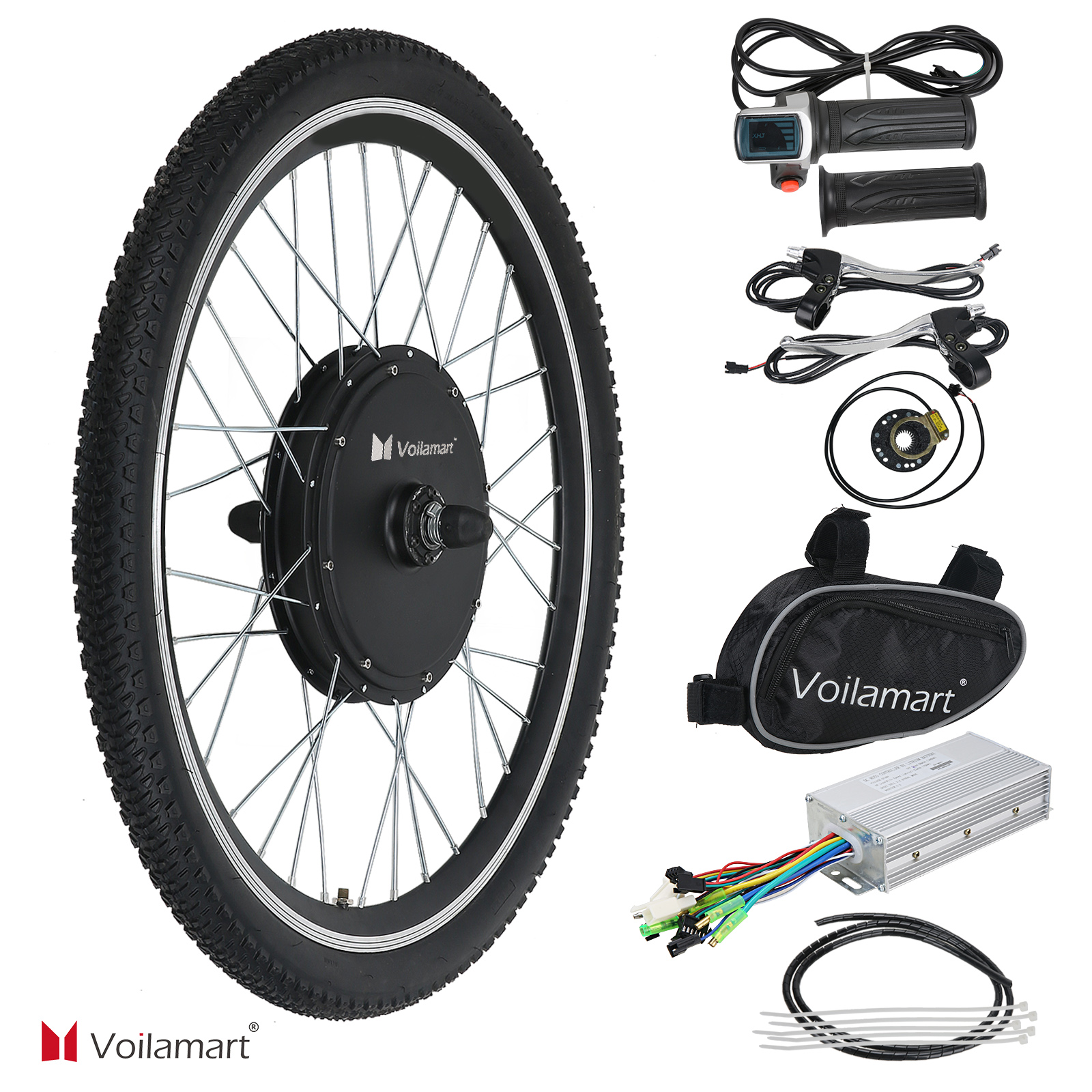 26 vorderrad 48v 1000w e bike conversion kit ebike. Black Bedroom Furniture Sets. Home Design Ideas