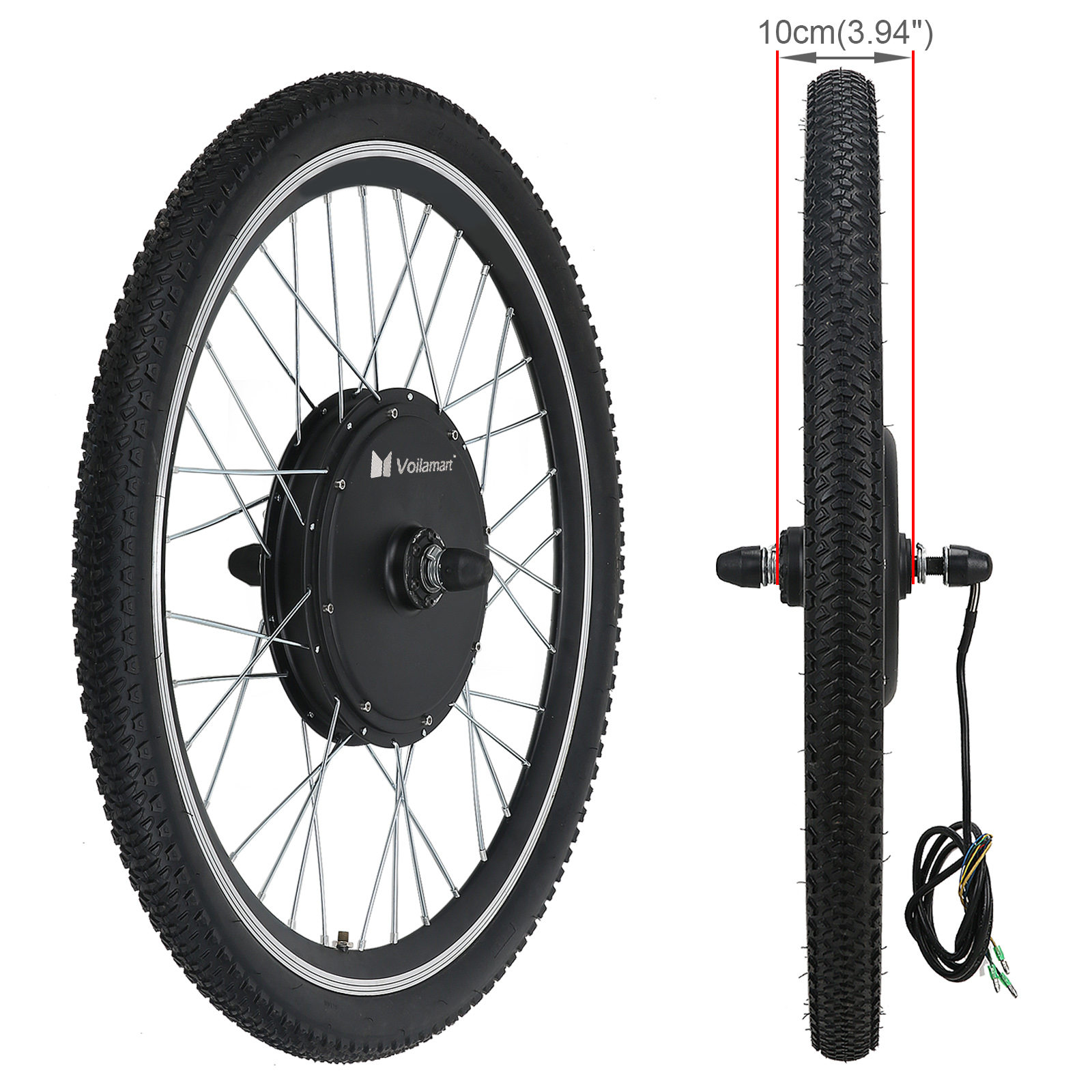 48V Front Wheel Electric Bicycle Motor Conversion Kit