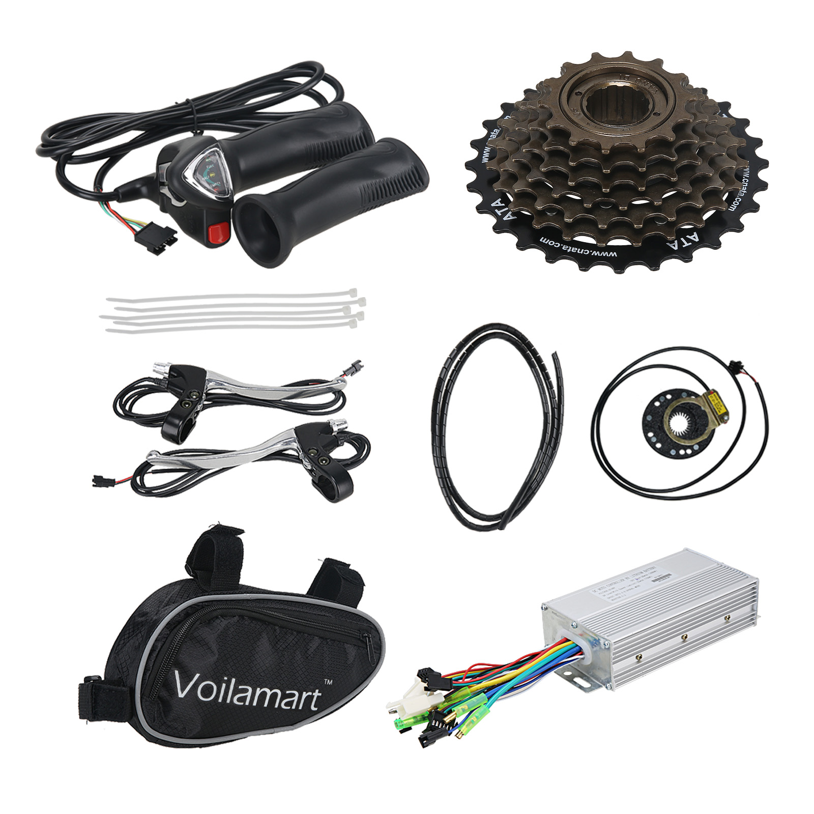 "Pd750 Electric Motor Kit: 26"" Electric Bicycle Rear Wheel E-Bike Conversion Kit 48V"