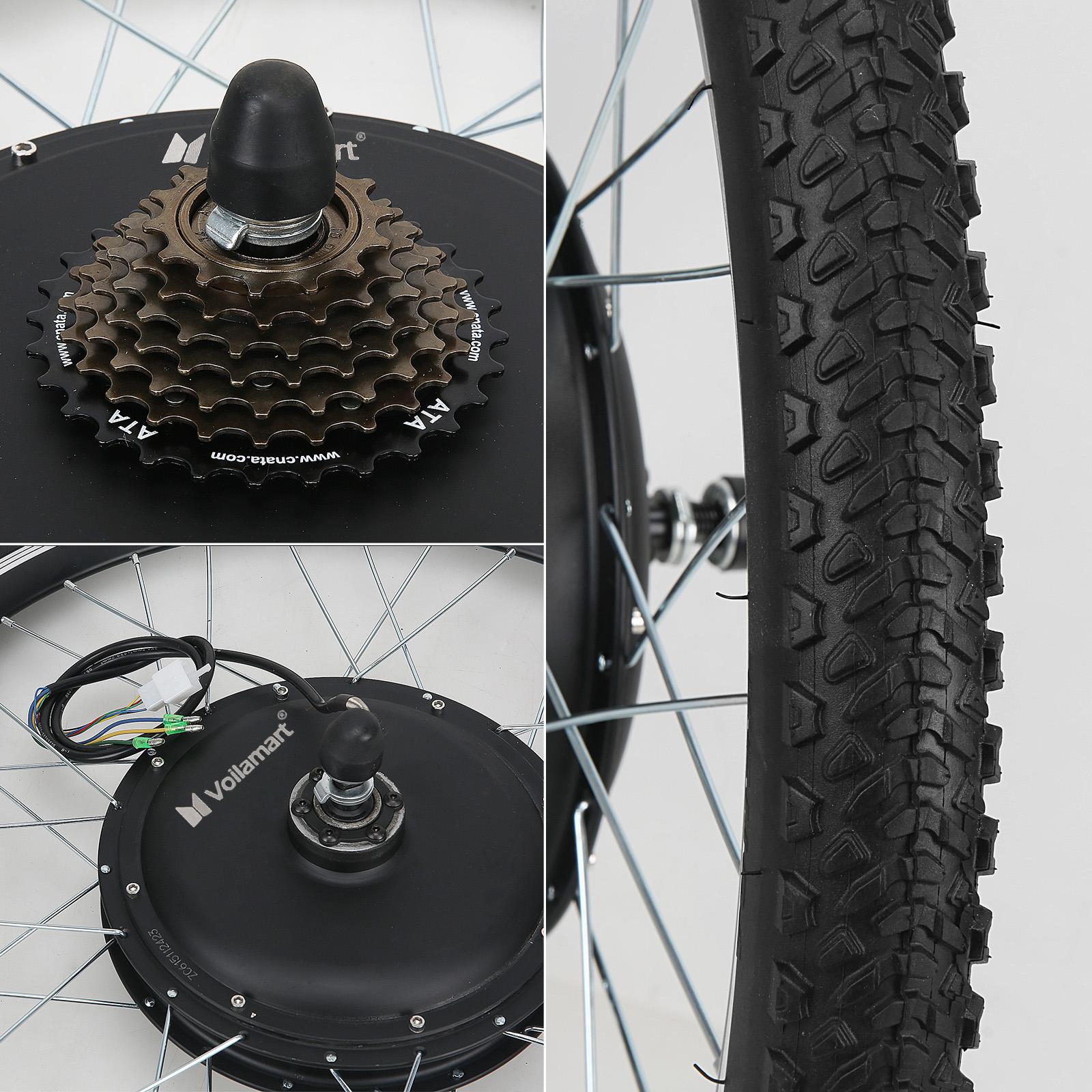 26 1500w rear wheel 48v electric bicycle bike motor. Black Bedroom Furniture Sets. Home Design Ideas
