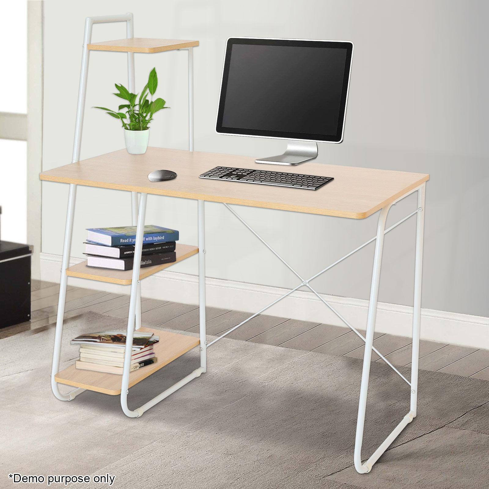 Corner Computer Office Desk Home Pc Workstation Bookshelf Table Study Furniture Ebay