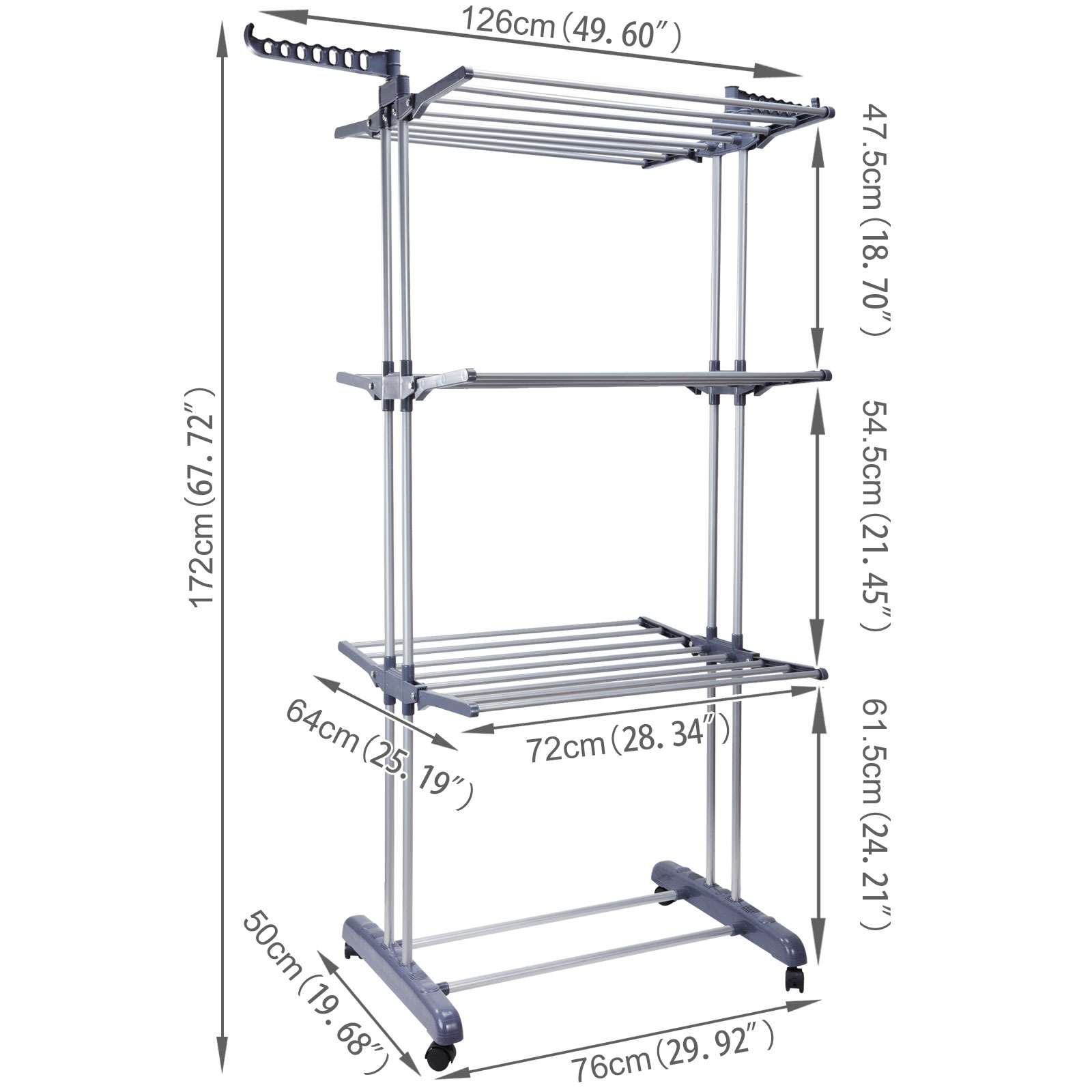 foldable 6 tiers clothes airer indoor laundry drying rack. Black Bedroom Furniture Sets. Home Design Ideas