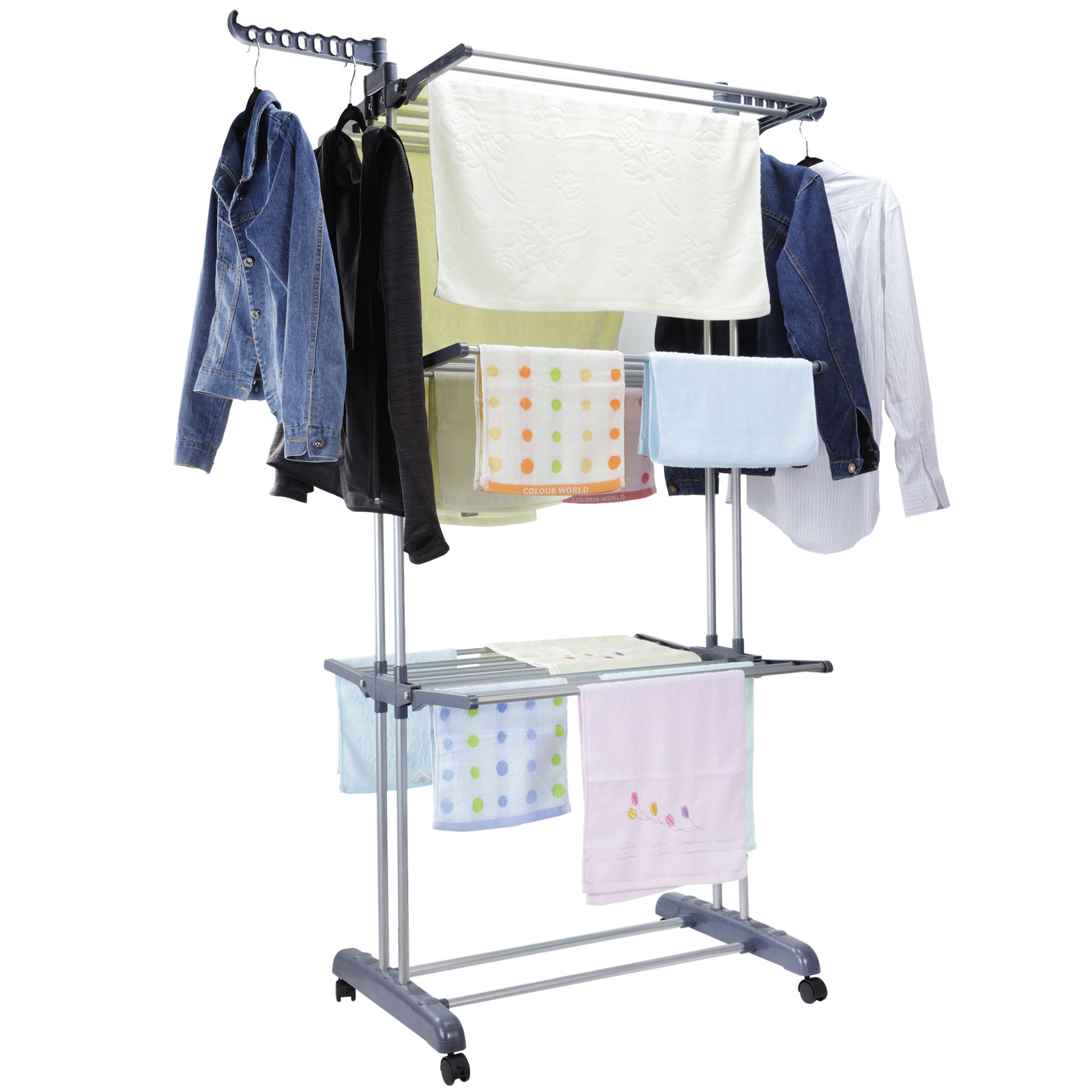 Outdoor Clothes Dryer ~ Foldable tier clothes airer laundry dryer rack indoor