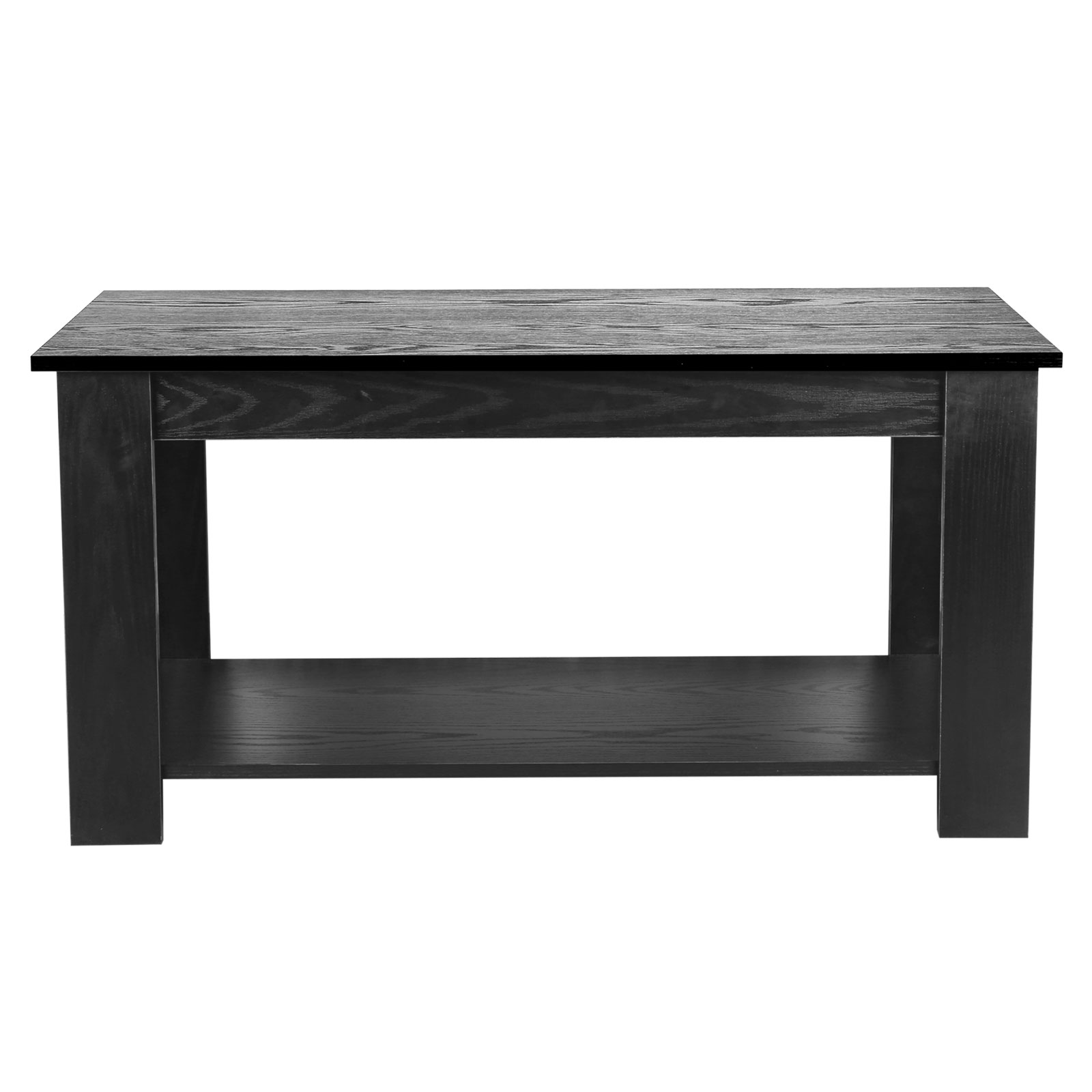 Lift Up Top Coffee Table Living Room Metal Hinge Wood Effect Storage Shelf Black Ebay