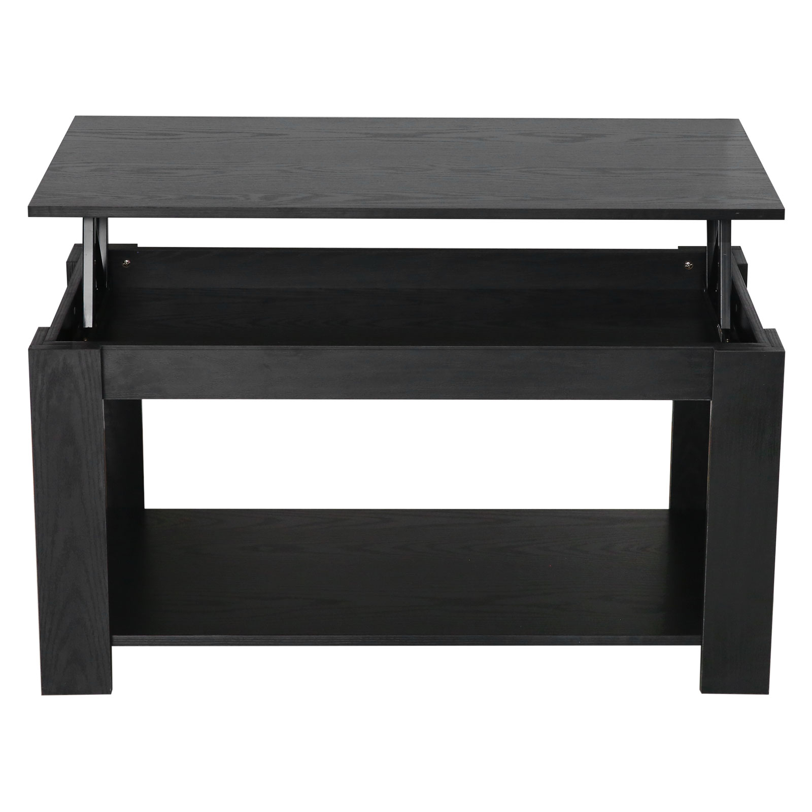 Black Coffee Table With Storage Uk: Lift Up Top Coffee Table Living Room Metal Hinge Wood
