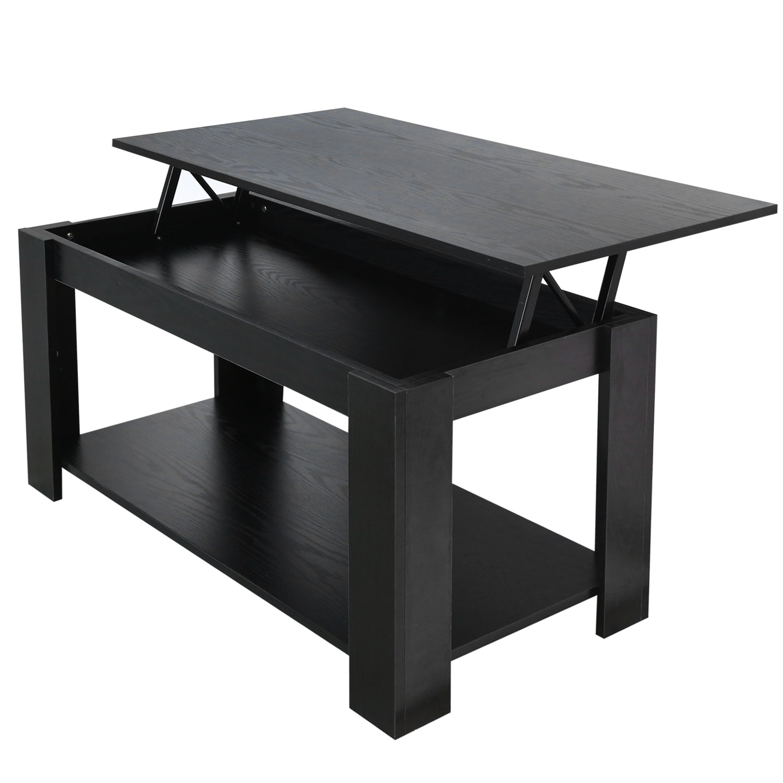 Black Coffee Table With Storage Uk: Modern Lift Up Top Coffee Table With Storage Shelf Living