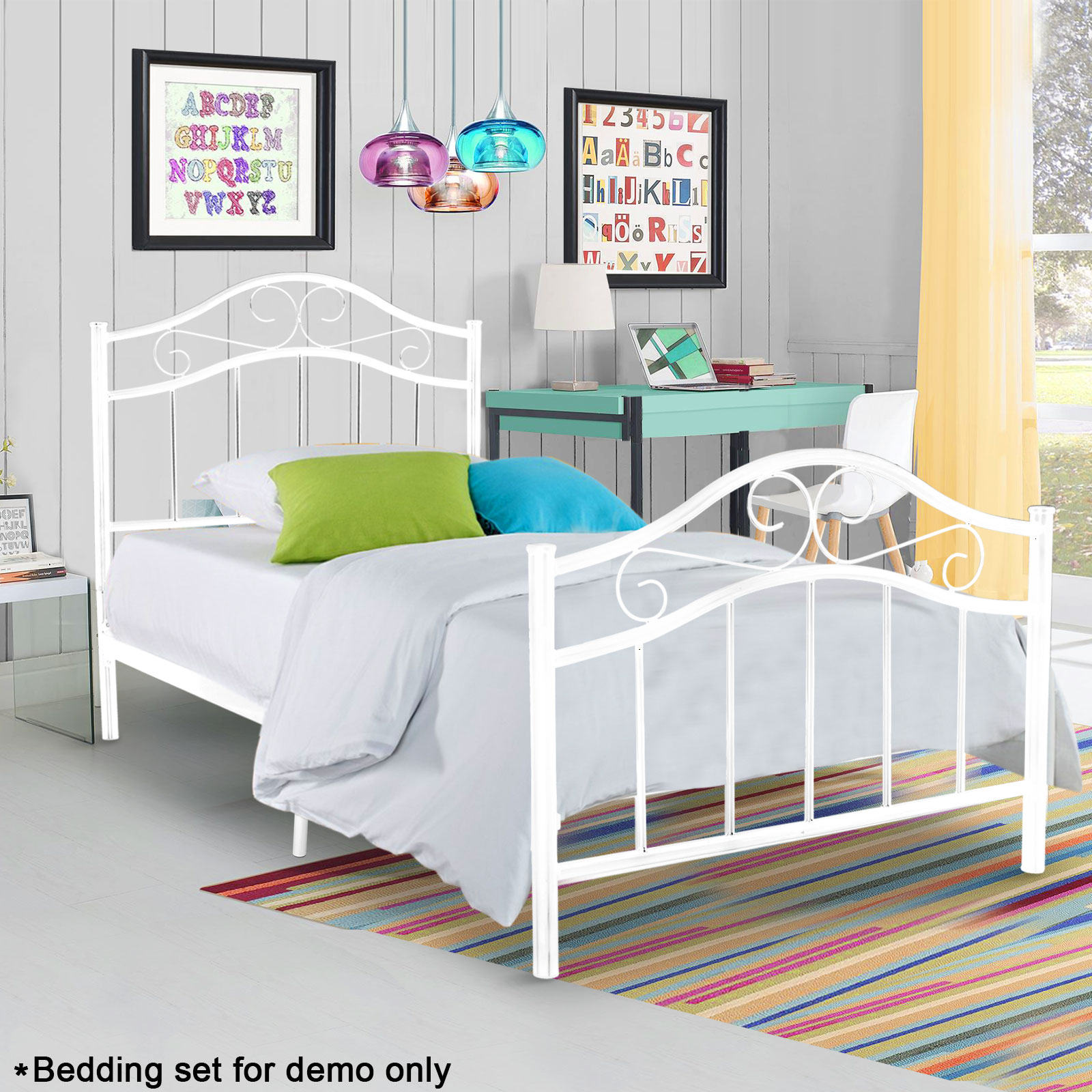 Twin Full Size Metal Bed Platform Frame Bedroom Heavy Duty Steel - Heavy duty bedroom furniture