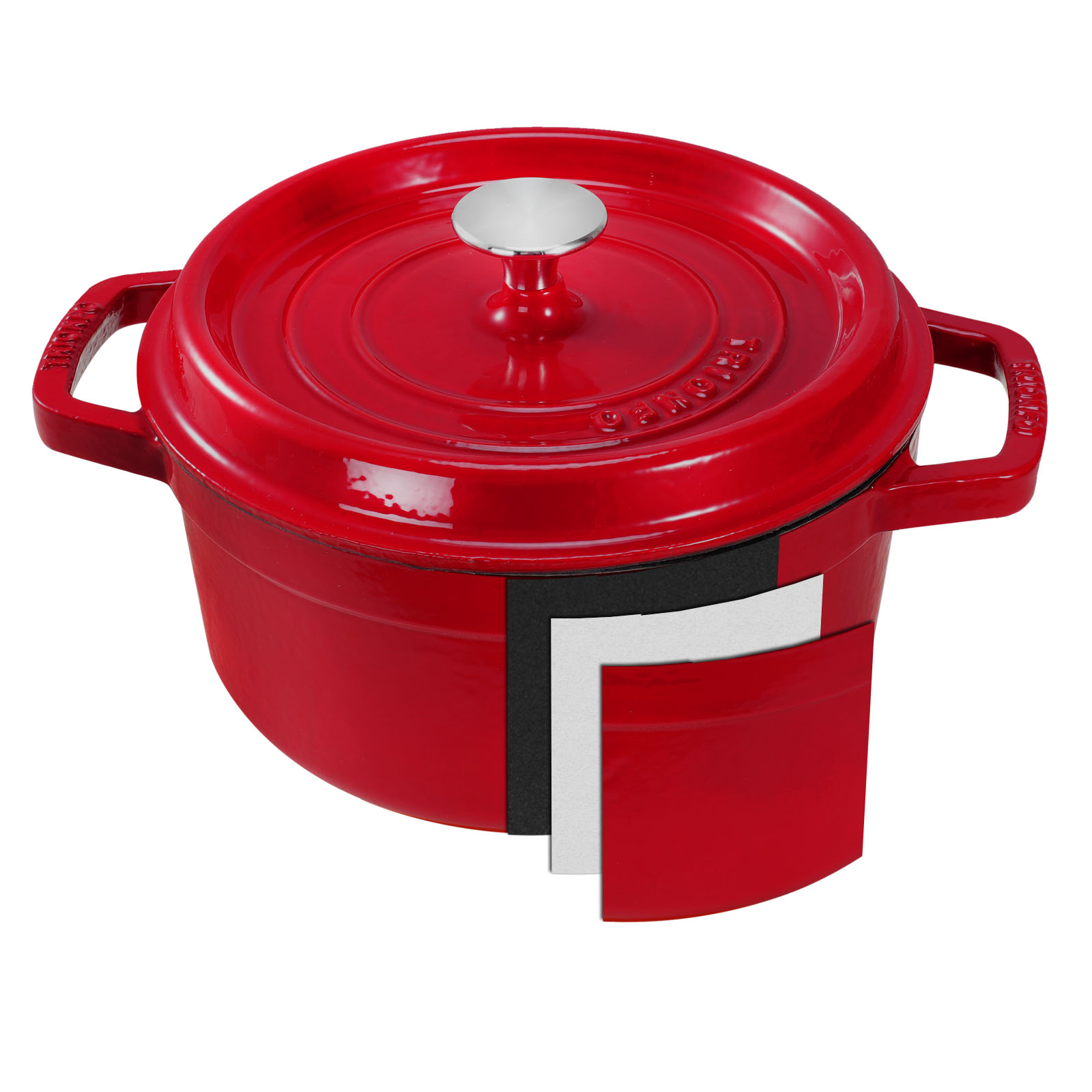4 5 quart enameled cast iron dutch oven pot lid stove cookware home kitchen red. Black Bedroom Furniture Sets. Home Design Ideas