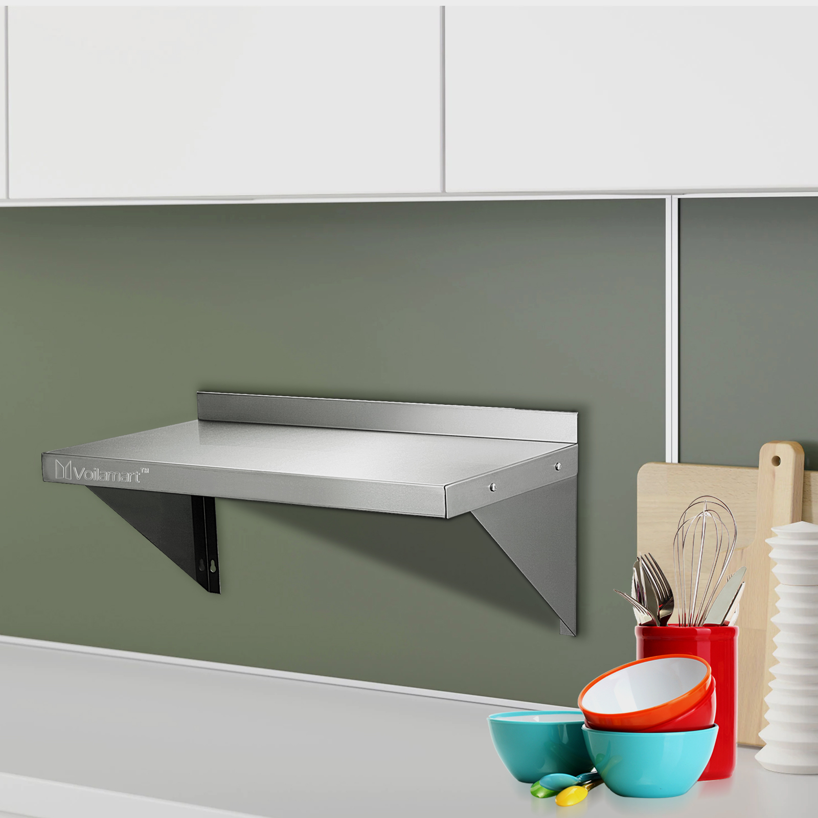 600mm Commercial Stainless Steel Wall Shelf 24 Quot X 12