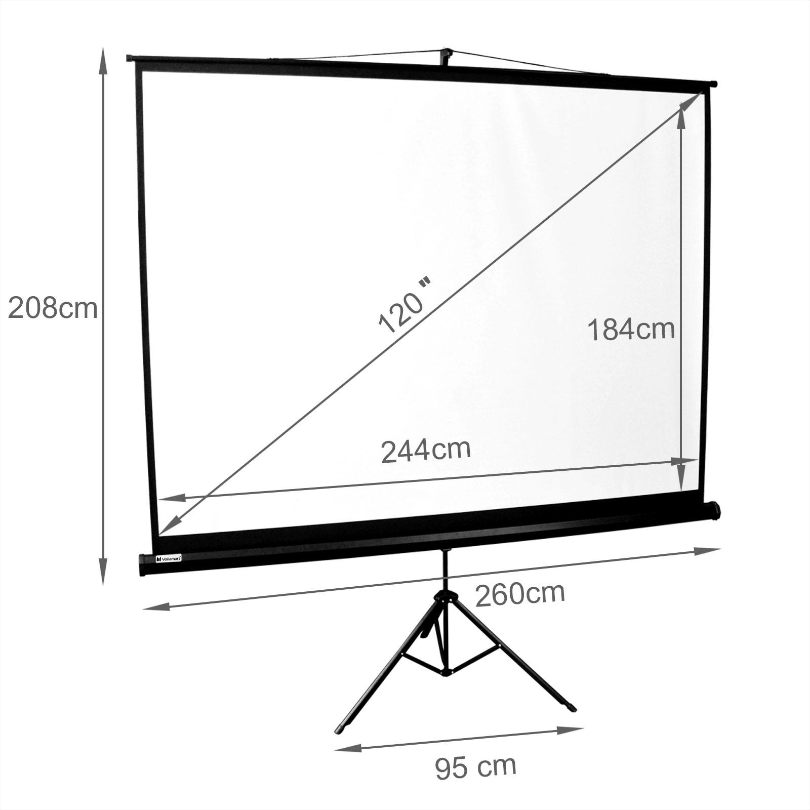 120 u201d inch portable tripod projector screen conference presentation hd projection 611165984205
