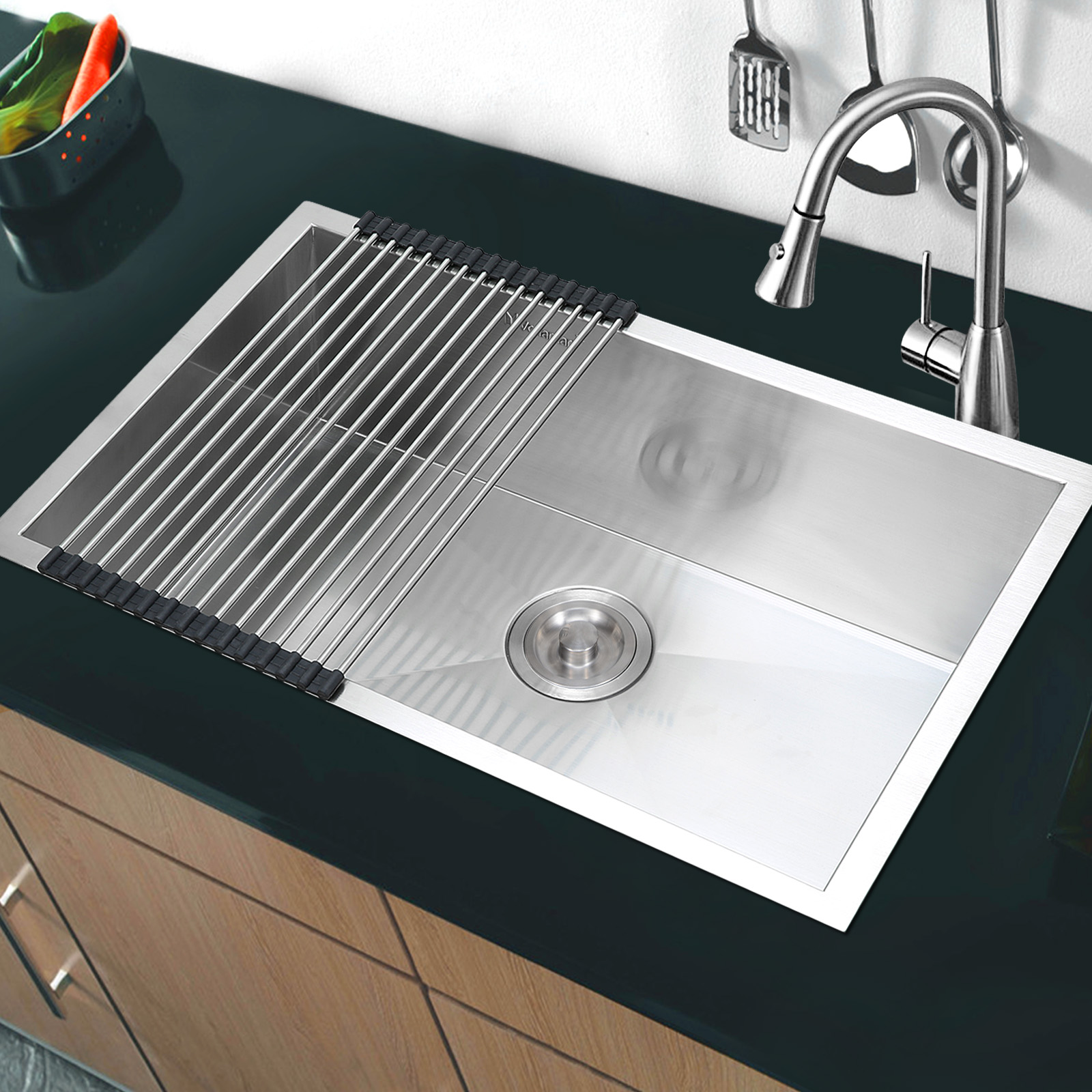 Single Bowl Sink With Roll Mat Without Waterlet Description
